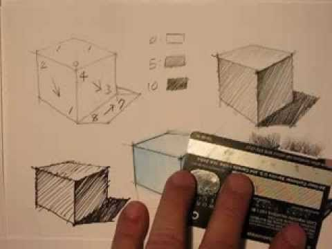 ▶ Mike Lin: How to draw a cube and render it with Pencil, Pen, Markers and Pastel - YouTube
