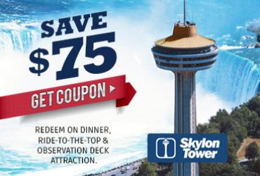 Redeem for $40.00 OFF Dinner For Two* (2 appetizers, 2 entrees, 1 dessert) at the Revolving Dining Room. Includes FREE PARKING – validate with server. Includes FREE ADMISSION to Ride-to-the-Top & Indoor & Outdoor Observation Decks Attraction.