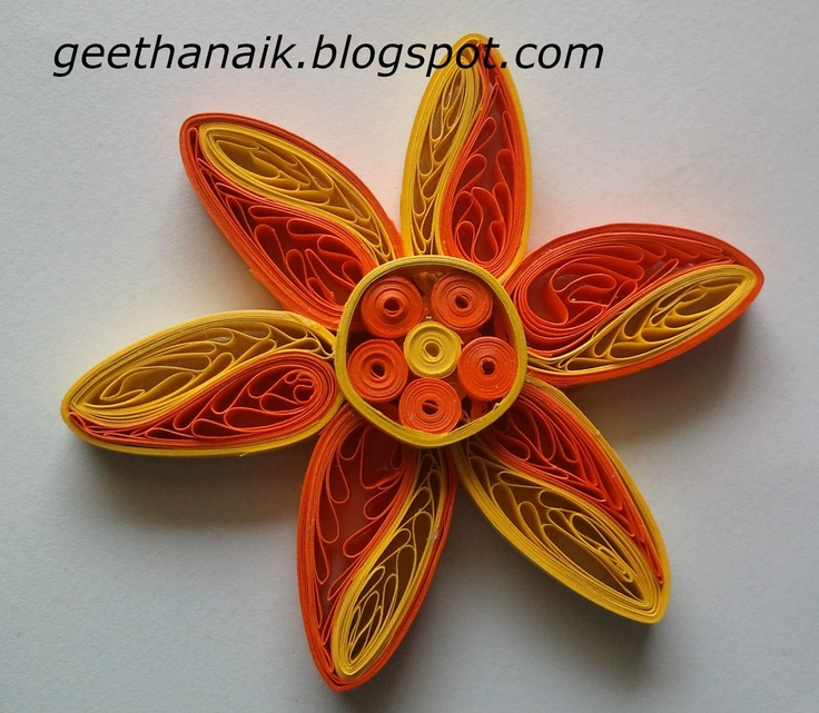 Crafty Me: Quilled flowers