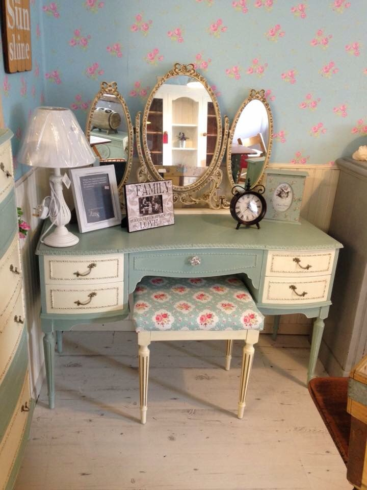 Painted Dressing Table ~ Vintage dressing table painted in autentico chalk paint