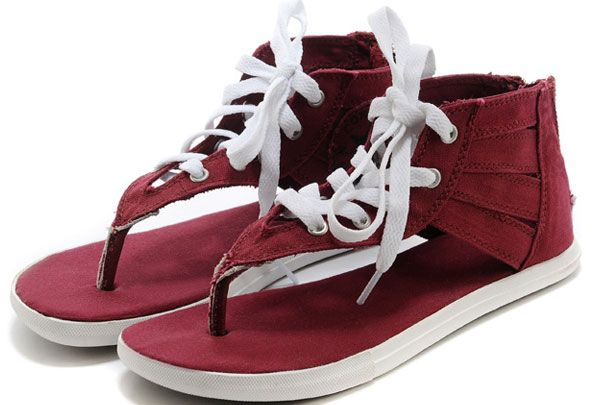 29666bc0d28707  converse Summer Converse Chuck Taylor All Star Gladiator Shoes Thong  Sandals High Wine Red Womens Canvas Slippers with Zipper