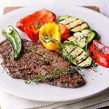 BBQ-Steak met gegrilde groenten