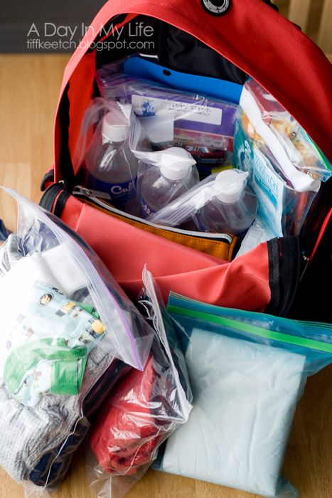 72 Hour Kits: Child Version sad to think about- but a smart thing to have, just in case. Link to an adult kit in post.