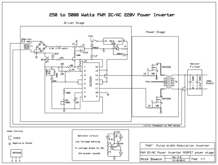 5000 watts power amplifier circuit diagram allen bradley 100 d140 contactor wiring build a 250 to pwm dc/ac 220v inverter   watt pinterest ...