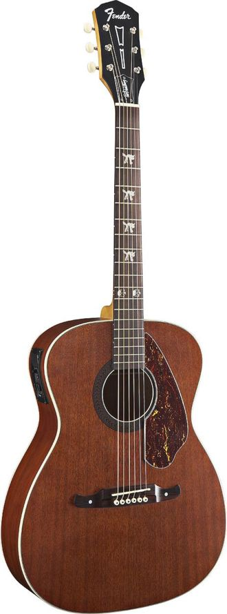 FENDER Tim Armstrong Hellcat Dreadnought Acoustic/Electric Guitar - Natural | Small White Mouse