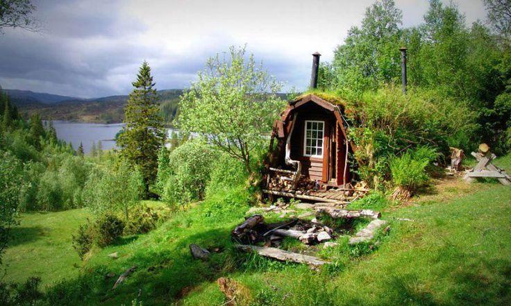 adelaparvu.com despre cabana de munte cu acoperis verde construita de studentii NTNU, cabana Holvasgamma Norvegia (9)