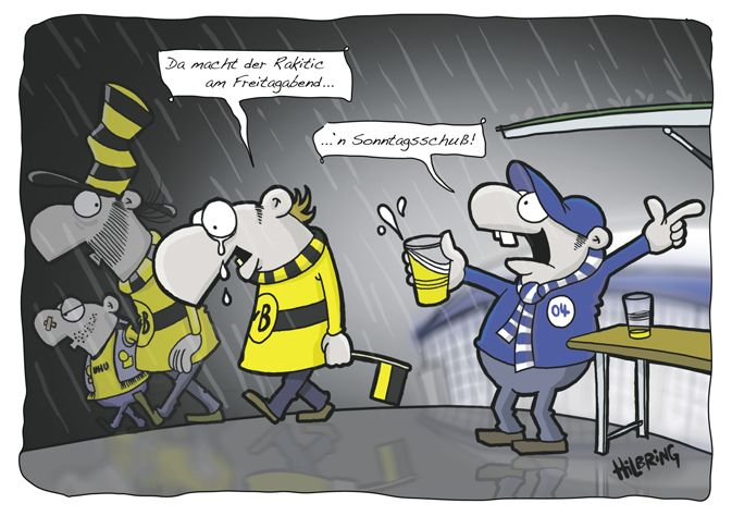 Derby Cartoon Schalke Vs Dortmund Schalke Schalke Dortmund