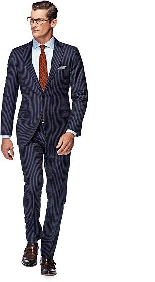 Suit Blue Stripe Sienna P3709I