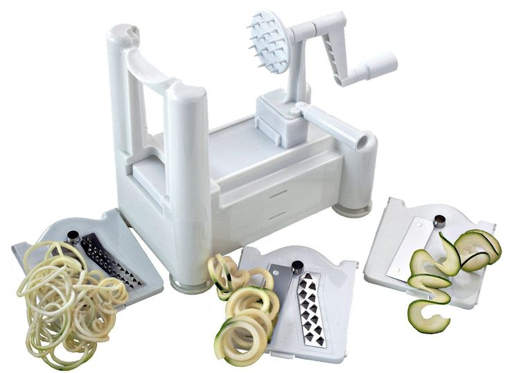 Spiralizer Best Vegetable Maker, Spiral Slicer, Peeler, and Shredder You'll Ever Use! Makes Zucchini Noodles, Veggie Spaghetti, Pasta, and Cut Vegetables in Minutes.