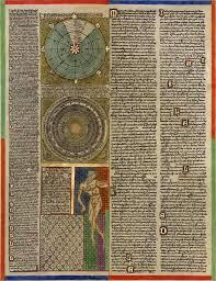 L'Atles català, atribuït al cartògraf mallorquí Abraham Cresques, data del 1375, és el mapa català més important de l'Edat Mitjana. És el primer que incorpora una rosa dels vents. Aquest és el primer full, una cosmografia.