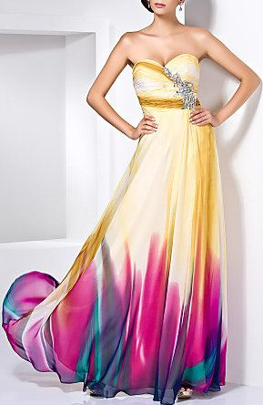 Sweetheart Floor-length Chiffon Evening/Prom Dress With Crystal Detailing