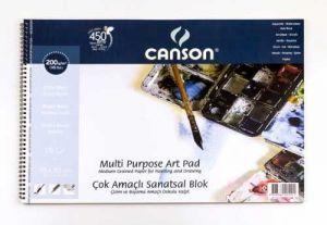 Canson Finface Çok Amaçlı Sanatsal Blok 200 gr. 35x50 cm. 15 Sayfa