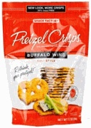 Buffalo wing pretzel crisps