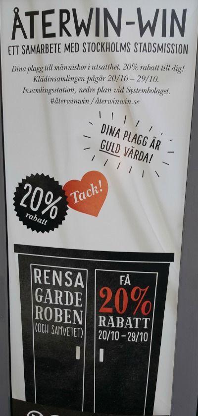 Omtänksam kampanj för att ge gamla kläder nytt liv. #återwinwin #återvinning