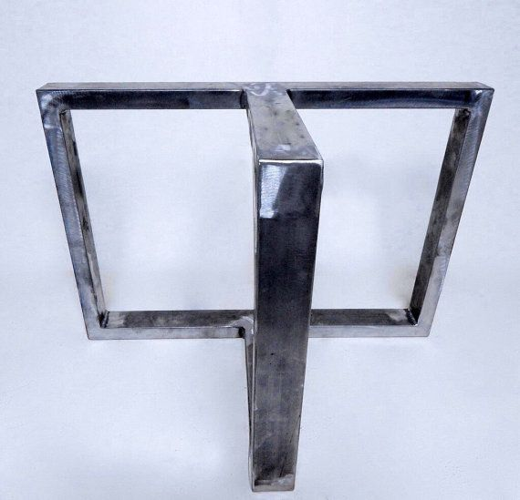 Set of Metal Table Legs Industrial Table by InvictusSteelworks