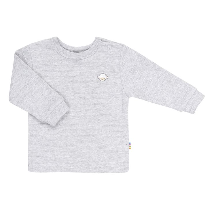 Joha Certified EU Ecolabel, 100% cotton. Grey wide ribbed top, with press studs from collar to left shoulder and stretch cotton cuffs.  Made in Europe. $39.95 http://www.danskkids.com.au/collections/spring-summer-2015/products/joha-ottoman-top-grey