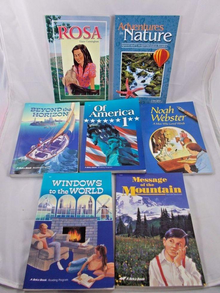 A Beka Reader Grade 5 Lot of 7 Books