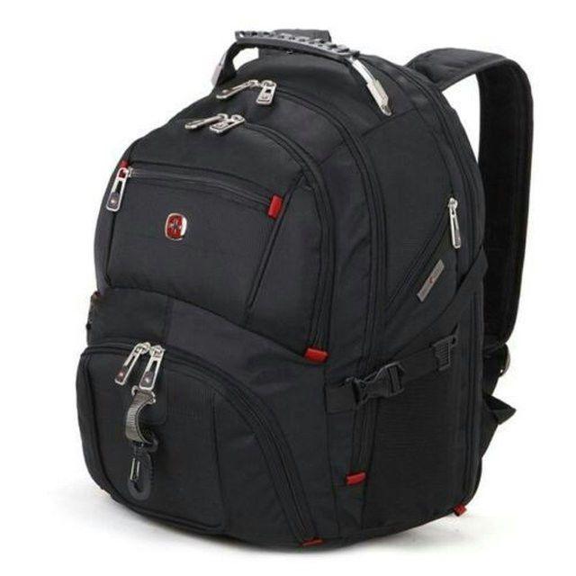 "Original 17"" SWISSWIN Backpack Waterproof High-Capacity Laptop Bag"