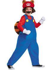 Boys Raccoon Mario Costume - Super Mario
