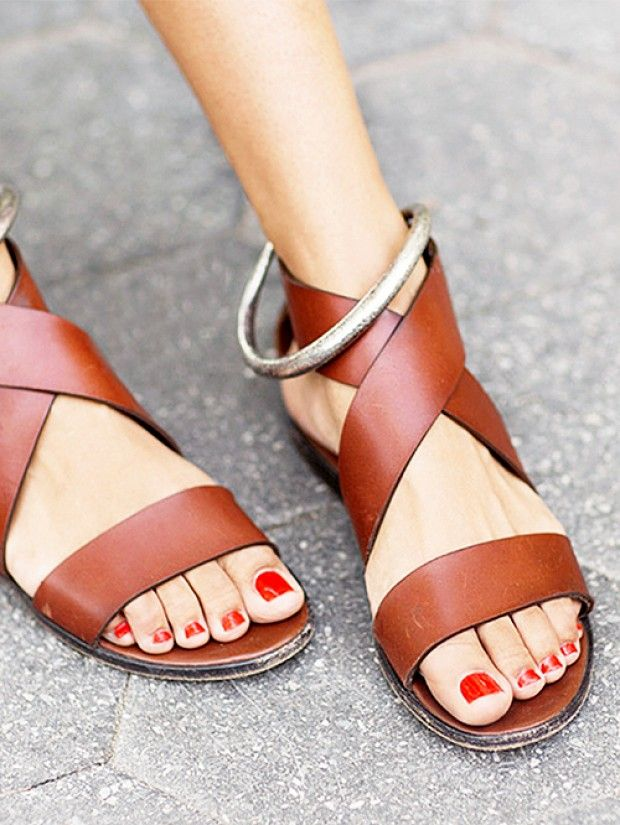 A pair of timeless leather sandals will always be the perfect complement to a relaxed summer look. // #TuesdayShoesday