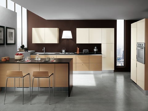This model, modern in design, easy of access and offering a full assortment of features, will make everyone's dreams come true | #kitchen | #Scavolini