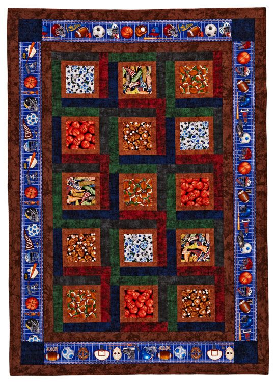 Sports Fan: Quilts Patterns, Kids Quilts, 2012 Quilts, Sports Fan, Fans Quilts, Sports Quilts, Sewing Sporty Th, Memories Quilts, Sports Fans