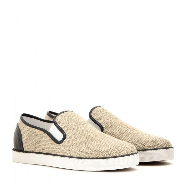 Bottega Veneta - Leather-trimmed slip-on sneakers - mytheresa.com, $480. Slip  On ShoesSlip ...