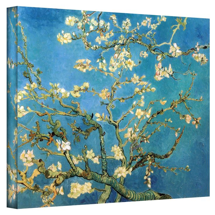 What do you think of this for living room wall behind desk?   VanGogh 'Blossoming Almond Tree' Wrapped Canvas
