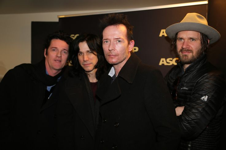 #ScottWeiland and #TheWildabouts (l-r) The Wildabouts' Danny Thompson and Tommy Black, Scott Weiland and The Wildabouts' Jeremy Brown. Photo by Erik Philbrook.