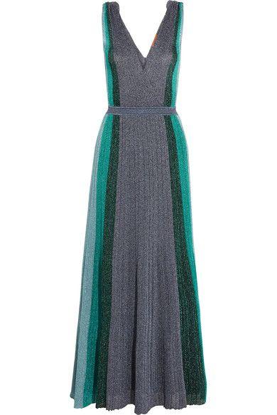 Missoni - Metallic Stretch-knit Gown - Silver