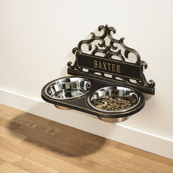Personalized hanging pet feeder.