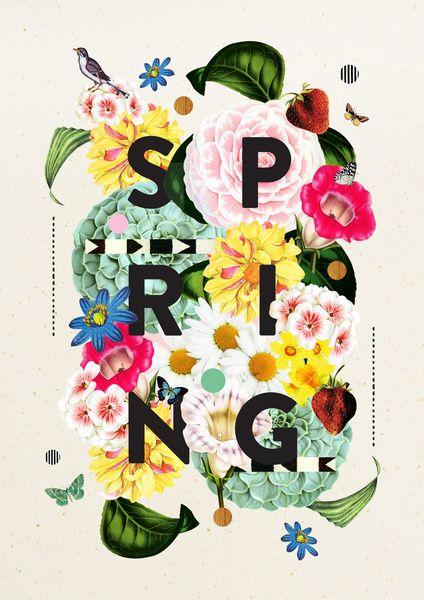 Love her #art! #typography SPRING Art Print by Dawn Gardner | Society6