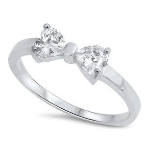 Sterling Silver CZ Bow Ring – JaeBee Jewelry