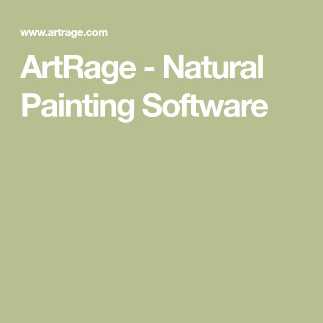 ArtRage - Natural Painting Software