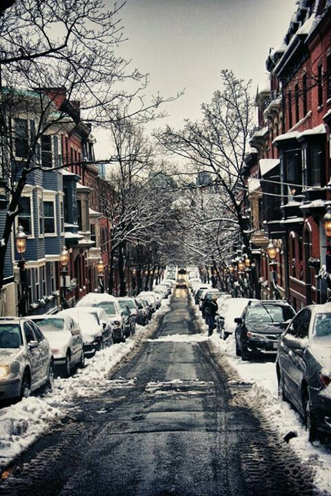 Boston brownstones. Hope this winter is easier on Boston than last year.[ SkiTimeTours.com ]