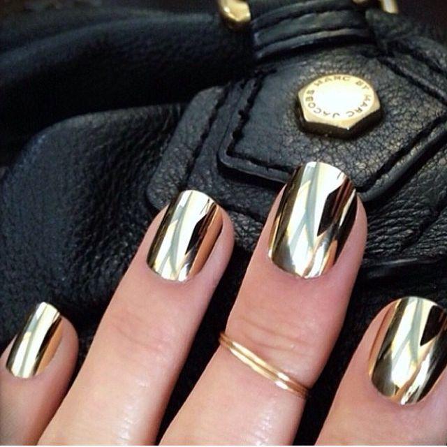 Mirror Effect Nail Polish Gold Gold Nail Polish Shiny