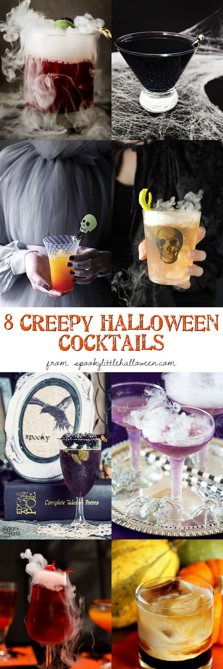 Double double toil and trouble, fire burn and...cocktail glass bubble! Here's 8 creepy Halloween cocktail recipes I'm dying to try.