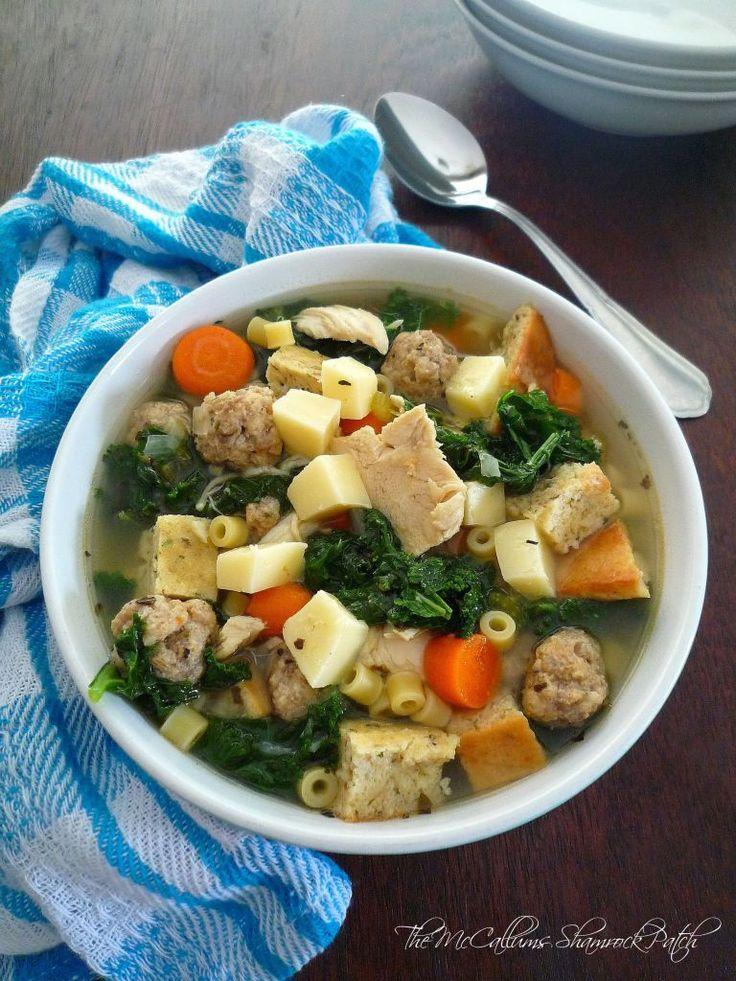 Hearty Wedding Soup Minestra Maritata Recipe Olive