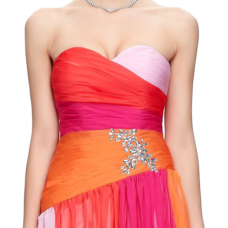 GK 2014 New Fashion 100% Real Colorful Long Ball Prom Gown Strapless Chiffon Evening Dresses Formal Dress Free shipping CL6069 > Nice plus size clothing shop for everybody
