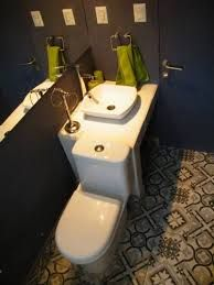 Toilette privado o compartido. Patio Ferreiro B&B Cartagena, Chile.