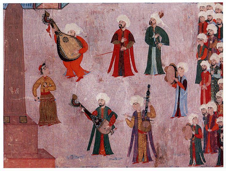 Turkish Ottoman Paintings Painting of Turkish Musicians