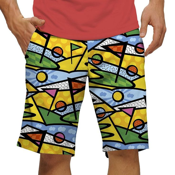 Men's Loudmouth Golf Trip Shorts, Size: 40, Med Yellow
