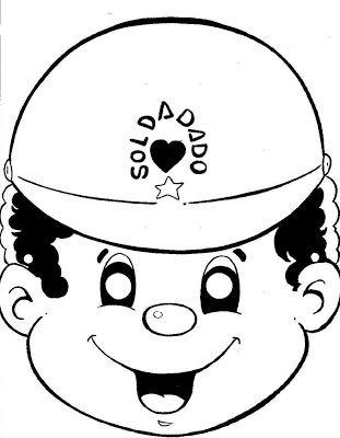 Máscaras para o Dia do Soldado | Pra Gente Miúda