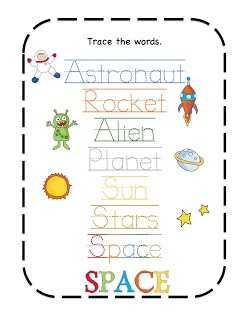 Preschool Printables: Space Rocket Printable