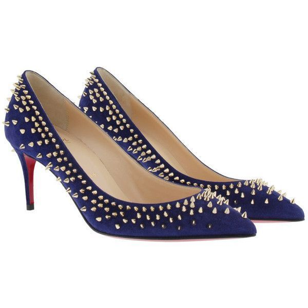 acd1f038c565 Christian Louboutin Pumps - Pumps Escarpic 70 Suede Blue - in blue -...  (37.535 RUB) ❤ liked on Polyvore featuring shoes
