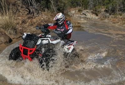 We spent a season riding and racing the Polaris Scrambler 1000. In the end it only got better. Thankfully, splash protection is pretty good too