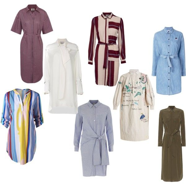 The Classic Shirt Dress with a twist or Tie by themavenmomma on Polyvore featuring 3.1 Phillip Lim, River Island, Kilometre, Topshop Unique, Kenzo and Polo Ralph Lauren