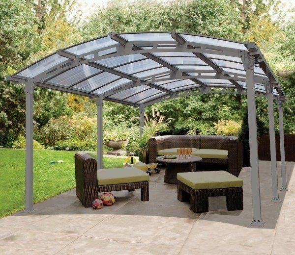 The Arcadia 5000 carport offers a simple do it yourself solution to having an aesthetically pleasing yet practical solution for protecting your vehicle from the elements or alternatively as a permanent gazebo feature for your home's exterior.