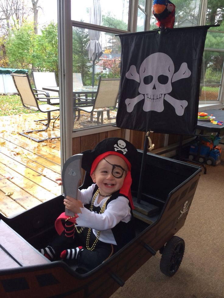 DIY toddler pirate costume & pirate ship wagon
