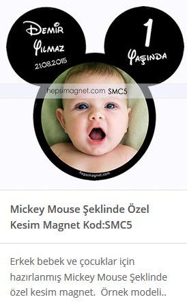 Doğumgünü partileriniz için Mickey Mouse şekilli özel kesim magnet.Erkek bebek ve çocuklar için hazırladığımız miki fare özel kesim şekilli magnet modelimizi  farklı yaş grupları için hazırlatabilirsiniz.Doğum günü magnet fiyatları ve çeşitleri sitemizden ulaşabilirsiniz. http://www.hepsimagnet.com/mickey-mouse-sekilli-ozel-kesim-magnet-smc5/ #özelkesimmagnet #şekillimagnet #şekillimagnetler #doğumgünümagnetleri #mikifare #mikimouse #mikimouseparti #mikimousepartikonsepti